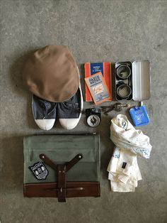 Nice things for him, Le Laboueur cap, doctors bag from the 60's Bonhomme scarf ...
