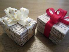 Newspaper Package Christmas Ornament Tutorial