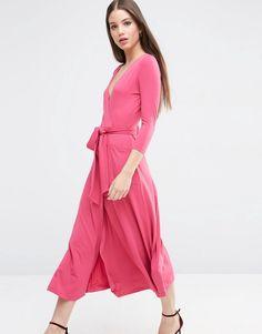 ASOS COLLECTION ASOS Wrap Maxi Dress in Jersey Crepe