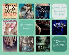 Ends Tonight (2/3) Win Choice of Contemporary Romance eBook {choose from 26} 5 Winners