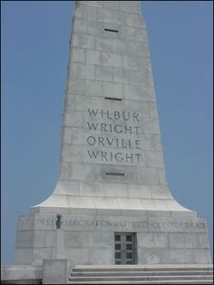 Wright Brothers National Memorial: Site of the First Controlled Powered Flight (109)   Discover why the Wright Brothers chose the Outer Banks of North Carolina to conduct their flight experiments, how they achieved controlled powered flight in 1903, and how their accomplishments have been commemorated. (National Park)