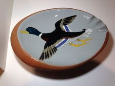 Vintage Stangl Pottery Hand Painted Duck Ashtray ****NO RESERVE****