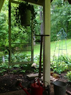 Salvaged screen door