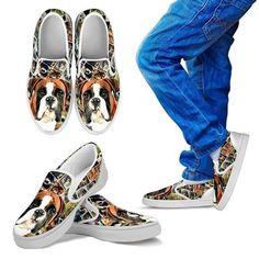 Pawfeel Boston Terrier Print Running Shoes for Kids-Jogging Sneaker