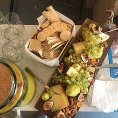 What dreams are made of. Cheese & punch. #partytime #cheeseboard #figmintcatering #entertainingathome #entertainingwithfigmint #digin