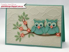 Splotch Design - Jacquii McLeay - Stampin Up - Owl Baby Card