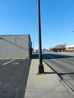 BEFORE - New sidewalks will be wider, safer.