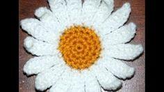crochet daisy flower - YouTube