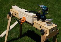 Mobile Workbench, Diy Workbench, Woodworking Organization, Olympus Digital Camera, Workshop, Workbenches, Horses, Tools, Organizers