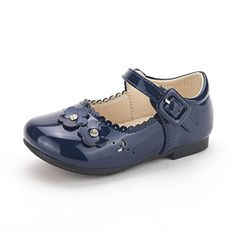 Dream Pairs NINA-99 New Adorable Mary Janes Side Flower Ballerina Flat (Toddler/ Little Girl) NAVY SIZE 8 - http://all-shoes-online.com/dream-pairs/8-m-us-toddler-dream-pairs-angels-mary-jane-bow-flat-18