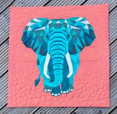 See which quilts won the 2019 Pantone Quilt Challenge. Elephant Quilts Pattern, Quilt Patterns, House Quilts, Baby Quilts, Winner Announcement, Animal Quilts, Foundation Paper Piecing, Liberty Fabric, Couture