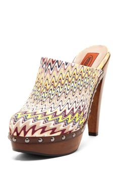 Missoni Zigzag Clog <3  If people really loved my soul they would get me these.