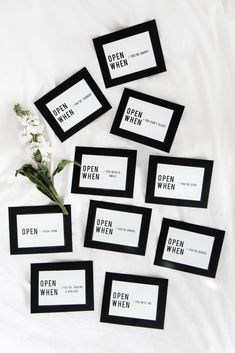 "Make a set of ""open when"" letters to show someone how much you love them! The perfect heartfelt gift!"