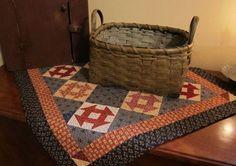 Small Churn Dash quilt in Patriotic colors