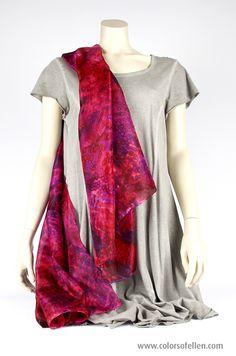 Handbeschilderde zijden sjaals 100-020