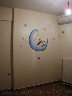 Ζωγραφική σε αγορίστικο παιδικό δωμάτιο