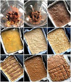 Sunnare snickerskonfekt-kake - LINDASTUHAUG Dessert Recipes, Desserts, Cereal, Gluten, Snacks, Baking, Breakfast, Food, Caramel