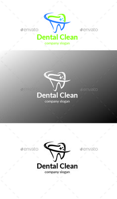 Dental Clean Logo — Vector EPS #children #decay • Available here → https://graphicriver.net/item/dental-clean-logo/17303083?ref=pxcr