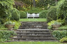 Landscape Stone Steps Landscaping Stairs Garden Stairs Landscape Ideas For Grade Change Landscaping Stone Steps On A Slope Landscape Design Stone Steps Landscape Stairs, Landscape Architecture, Landscape Design, Garden Stairs, Garden Bridge, Formal Gardens, Outdoor Gardens, Garden Paths, Garden Landscaping