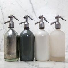 Charcoal Vintage Seltzer Bottle