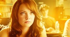 emma stone. red. easy A