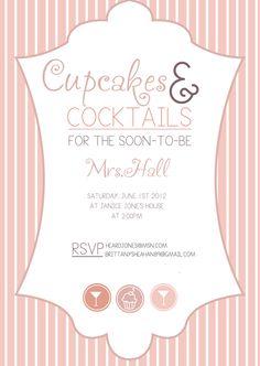 Cupcakes & Cocktails Invite by Kelcey Brady, via Behance
