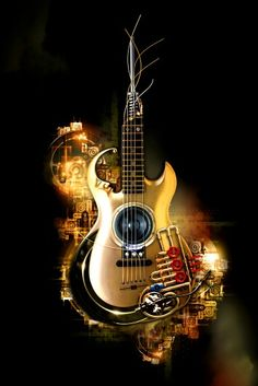 """Music, o Som d'Alma"" Guitar Art, Music Guitar, Cool Guitar, Music Lyrics, Music Drawings, Music Artwork, Guitar Photos, Guitar Photography, Music Backgrounds"