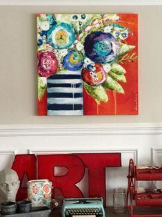 Donna Downey - Home art studio