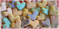 Thank you Heart cookies  small pastel thank you por SweetArtSweets, $32.00