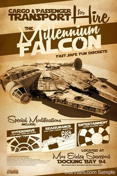 #StarWars #MillenniumFalcon #poster by Jason Christman