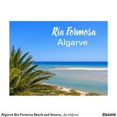 Shop Algarve Ria Formosa Beach and Seascape Postcard created by stdjura. Ria Formosa, Travel Cards, Algarve, Postcard Size, Falling In Love, Postcards, Portugal, Rocks, Vacation