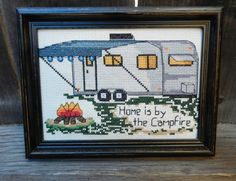 """Home is by the Campfire"" Cross Stitch Kit or Pattern"