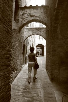 Streets of Sienna Italy