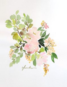 """""""Flora in Peach II"""" by Yao Cheng (via Minted)."""