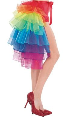 Tie-On Rainbow Bustle for Adults - Party City