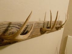 """Decorative Hat Rack Ideas You Will Ever Need Antler towel rack"""". Single point horns instead, with dull tips. Single point horns instead, with dull tips. Deer Antler Crafts, Antler Art, Deer Antler Chandelier, Deer Decor, Rustic Decor, Deer Horns Decor, Rustic Theme, Deer Antler Decorations, Decorating With Deer Antlers"""