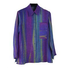 Doshi Shirt, Batida, Shindig, S – Santa Fe Weaving Gallery Vertical Stripes, Sweater Shirt, Shibori, Weaving, Blazer, Santa Fe, Mj, Long Sleeve, Sweaters