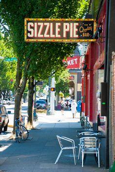 Sizzle Pie, Portland Oregon. Delish vegan pizza option! Was my drunk dinner last night :)