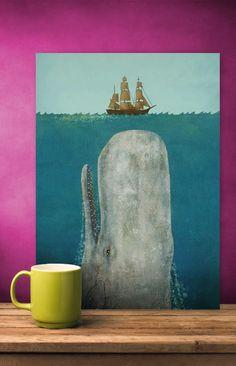 blog o wnętrzach dla dzieci, inspiracje : Latający wieloryb, czyli surrealizm dla dzieci.