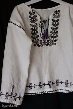 Si eu cos o ie! Tunic Tops, Costumes, Popular, Embroidery, Sweaters, Romania, Women, Fashion, Sewing Patterns Free