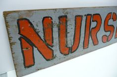 Vintage painted Wood Sign