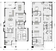 Home Designs in Sydney - North (Brookvale) Dream House Plans, House Floor Plans, Floor Design, House Design, Office Open Plan, Display Homes, Story House, House Layouts, House Goals