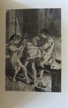 """L'Histoire comique de Francion.  Deze gelimiteerde herdruk uit 1925 is geheel overeenkomstig het oorspronkelijke verhaal van Charles Sorel (ca. 1600-1674) uit 1623 en is voorzien van 33 etsen en gravures van erotisch illustrator Martin van Maele (1862-1926). Dit genummerde exemplaar (no. 299) is gedukt op """"papier pur fibre"""" waarvan er in totaal 1100 gemaakt zijn (no.'s 104-1203)."""