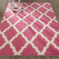 Found it at Wayfair - Glamour Machine Woven Hot Pink Area Rug