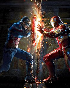 Cap vs Iron Man in 'Captain America: Civil War'