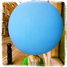 Balloon head in Covent Garden