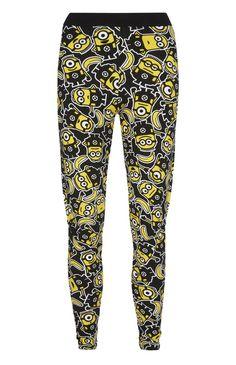 Primark - Black Minions Banana PJ Leggings