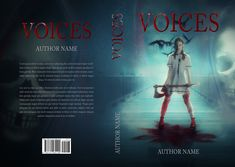 "Premade horror book cover ""Voices"" available for sale on my site."