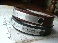 Stackable Singles :OR: Wear One, Share One Custom hand stamped leather cuffs by MyBella  https://www.facebook.com/MyBellaByLizLollar#!/MyBellaByLizLollar