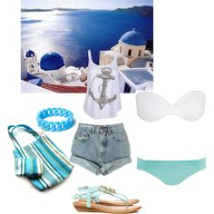 """""""Summer holidays in the Greek islands"""" by eva-kouliaridou on Polyvore"""